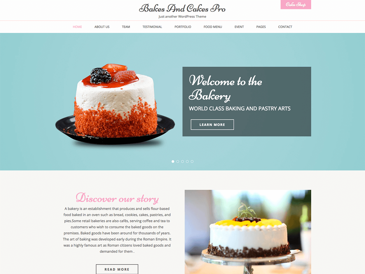 Cake Shop Websites